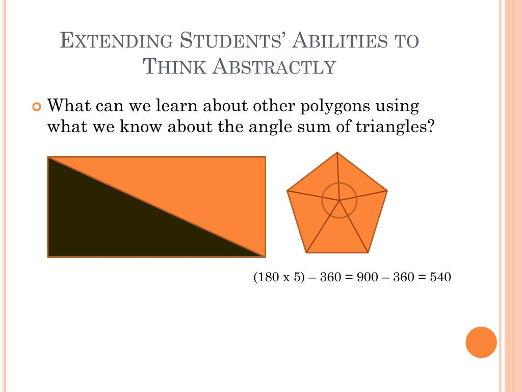 Extending Students' Abilities to Think Abstractly
