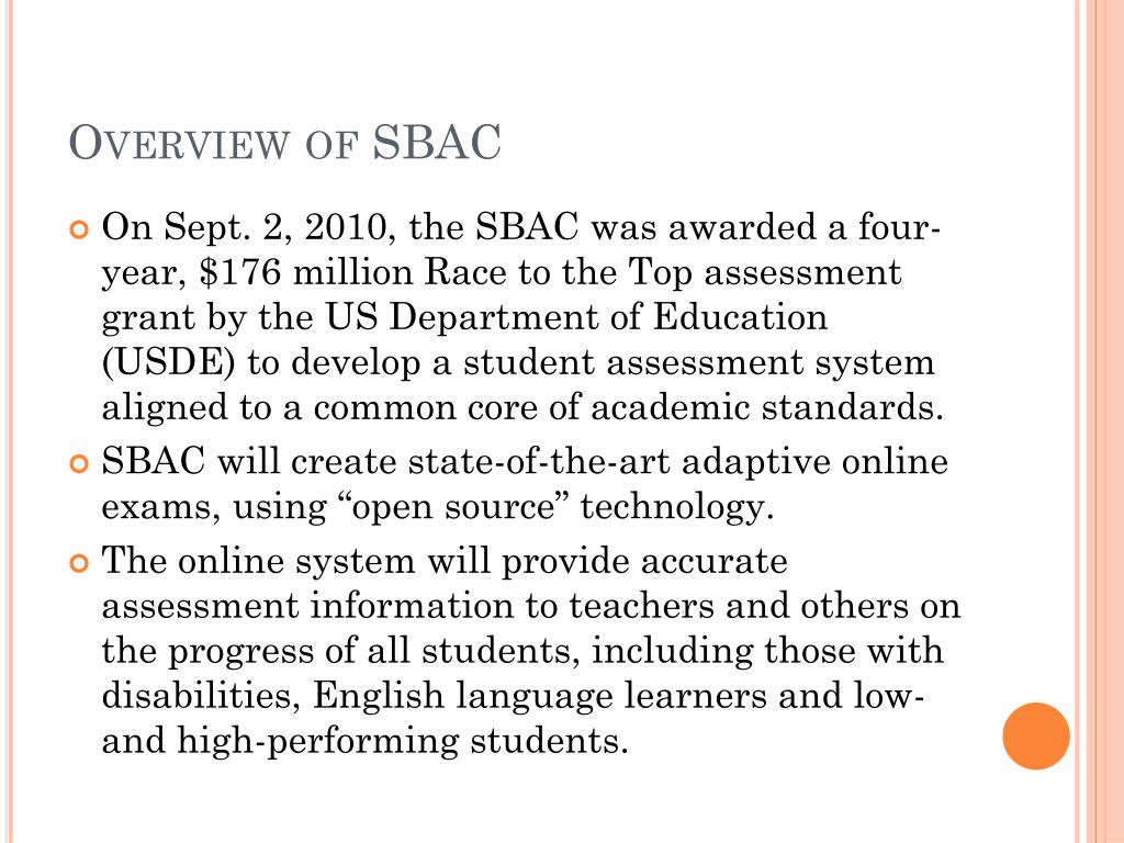 Overview of SBAC