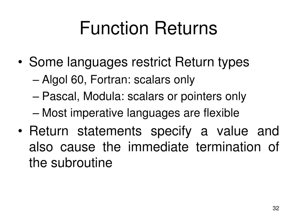 Function Returns