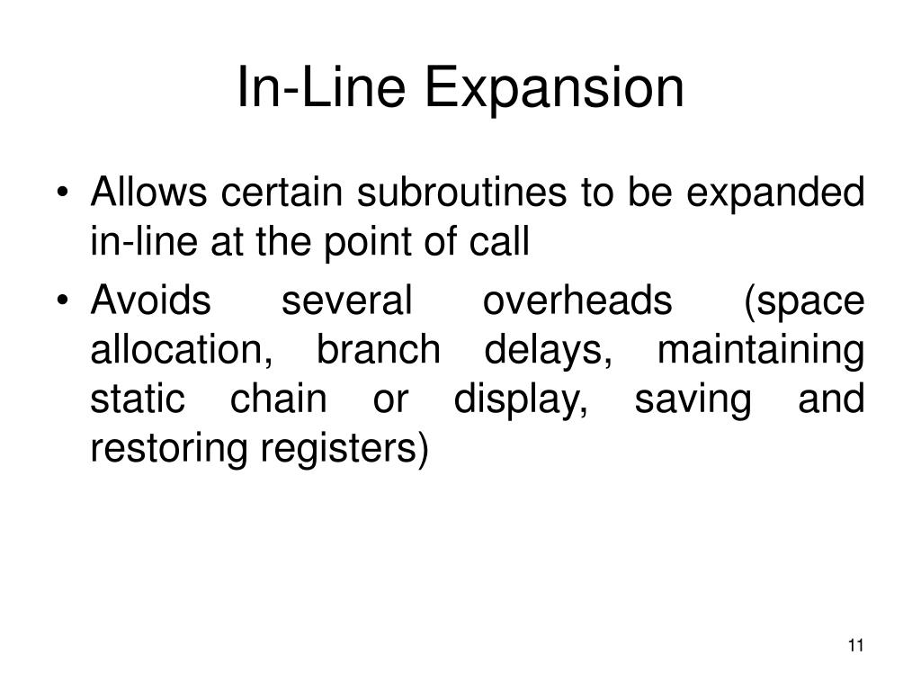 In-Line Expansion