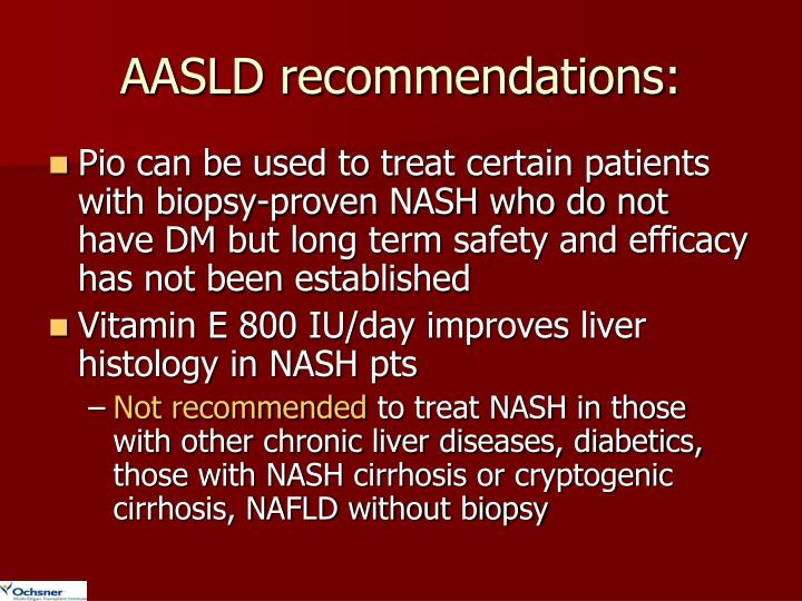 AASLD recommendations: