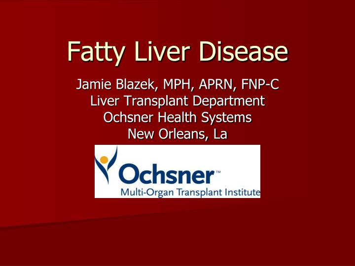 fatty liver disease n.