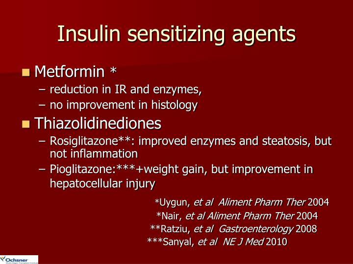 Insulin sensitizing agents
