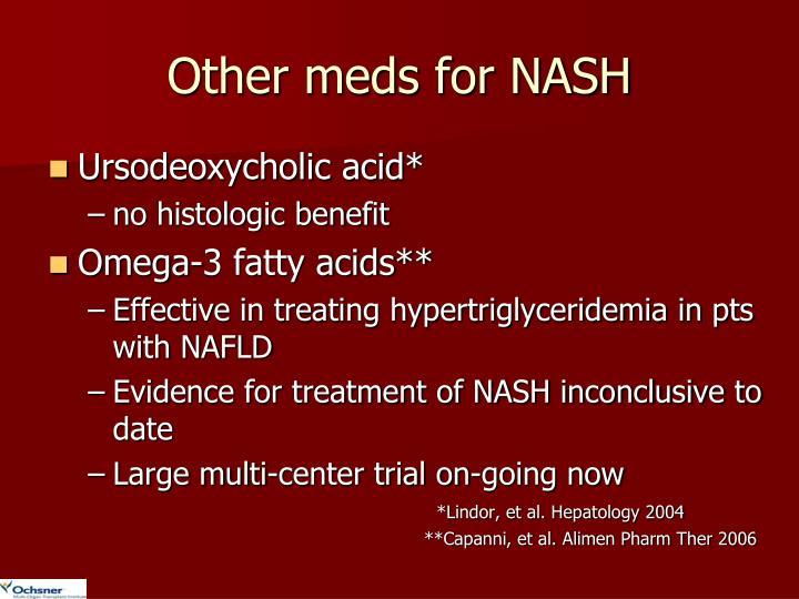 Other meds for NASH