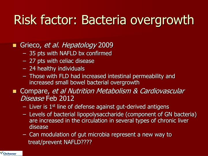 Risk factor: Bacteria overgrowth