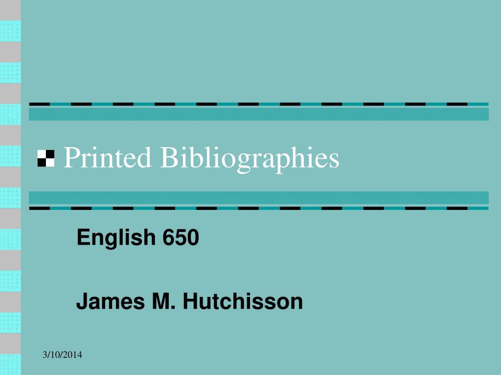 printed bibliographies l.