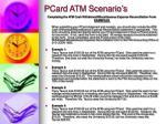 pcard atm scenario s