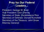pray for our federal leaders