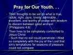 pray for our youth