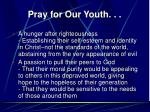 pray for our youth26