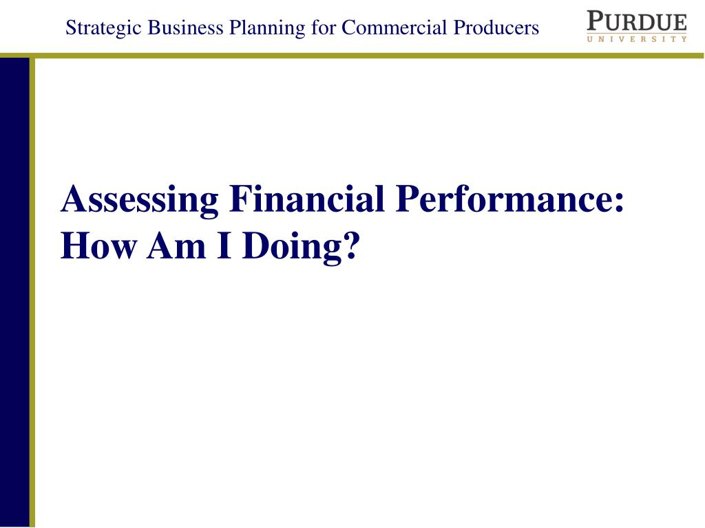 assessing financial performance how am i doing l.