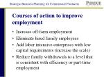 courses of action to improve employment