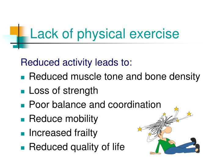 Lack of physical exercise