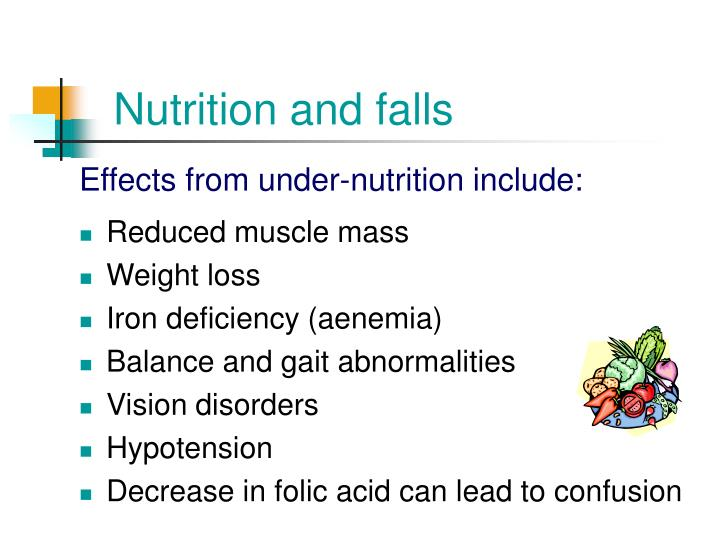 Nutrition and falls