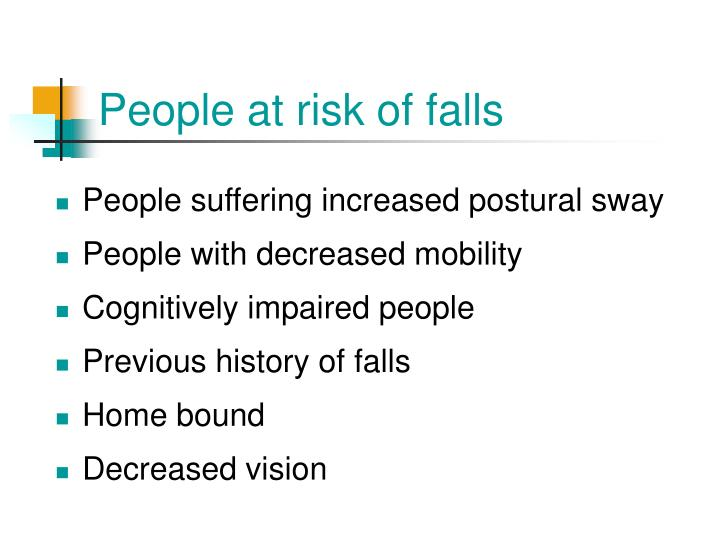 People at risk of falls