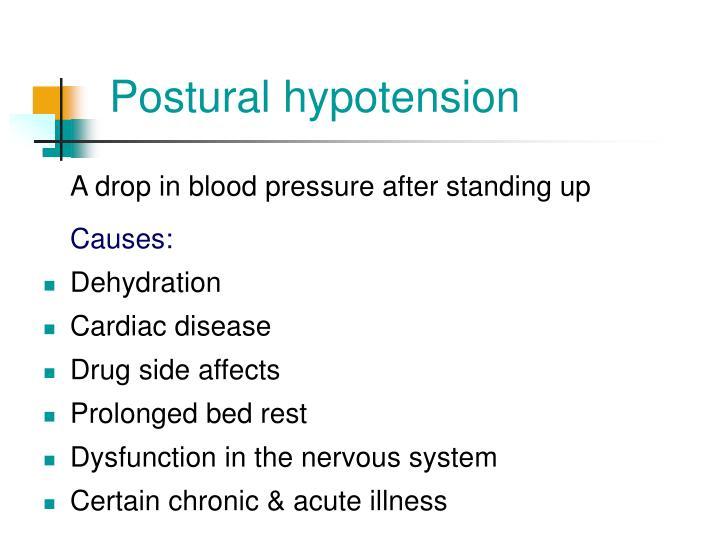 Postural hypotension