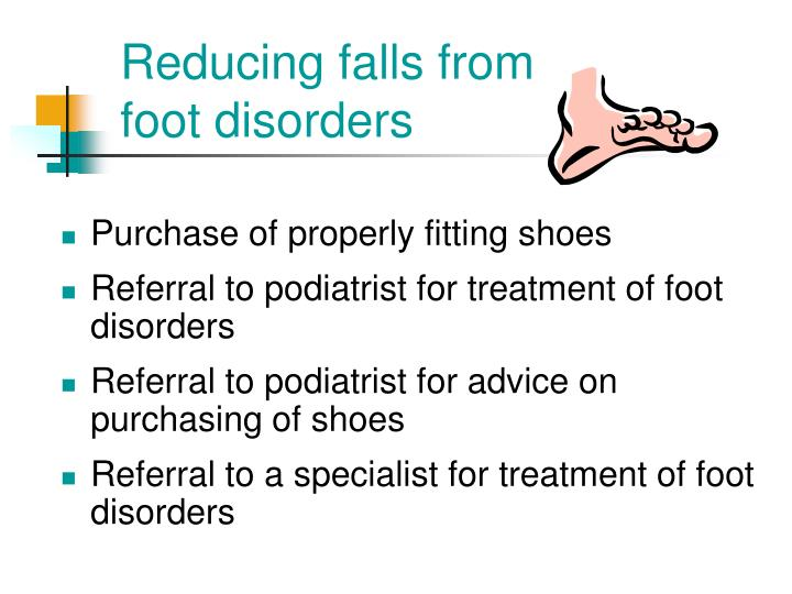 Reducing falls from