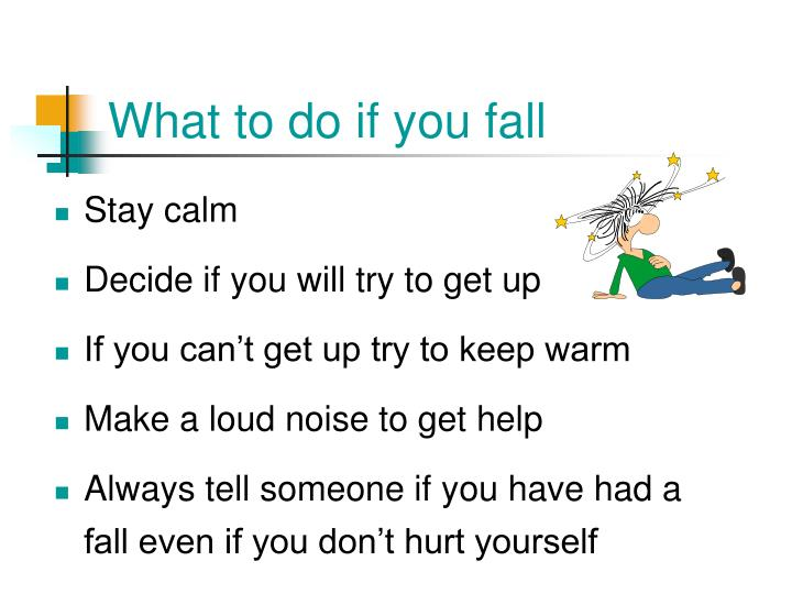 What to do if you fall