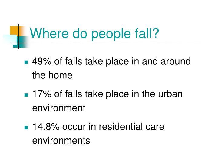 Where do people fall?