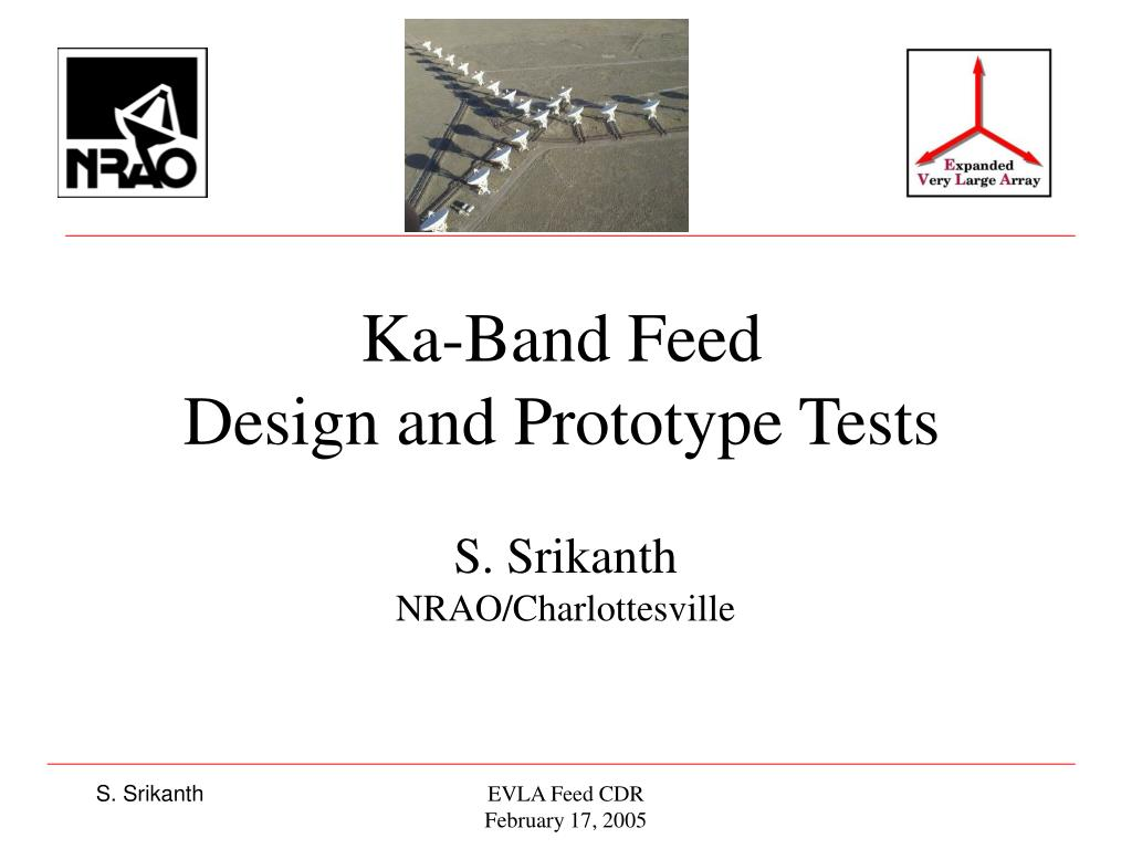 ka band feed design and prototype tests l.