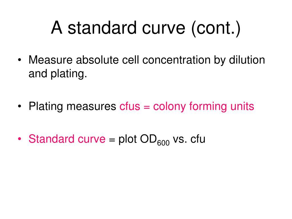 A standard curve (cont.)