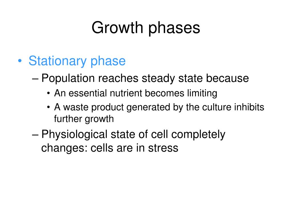 Growth phases