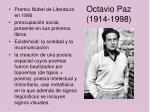 octavio paz 1914 1998
