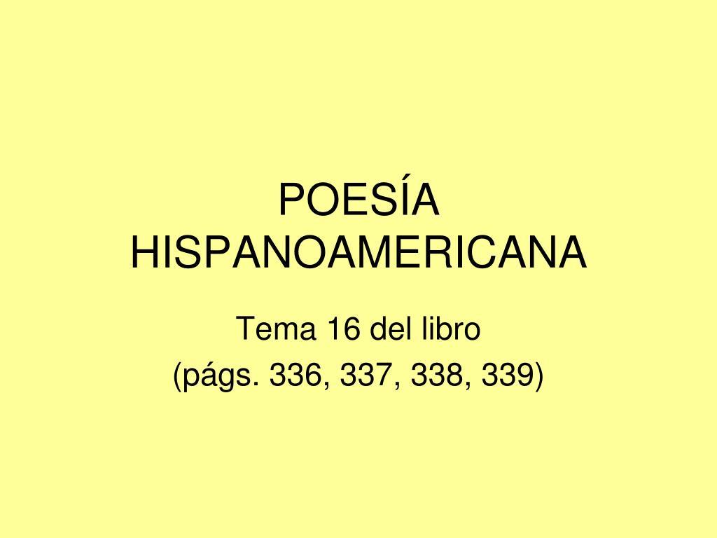 poes a hispanoamericana l.