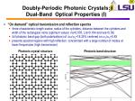 doubly periodic photonic crystals dual band optical properties i
