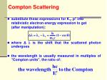compton scattering16