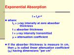 exponential absorption37