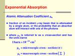 exponential absorption42