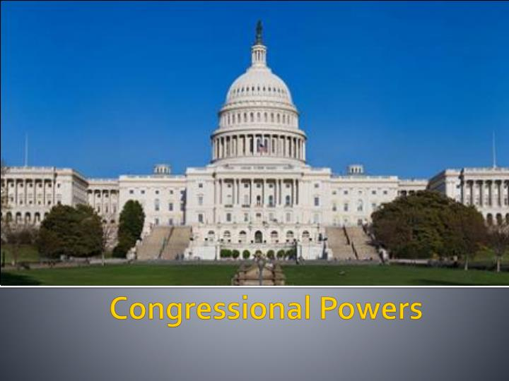 congressional powers n.