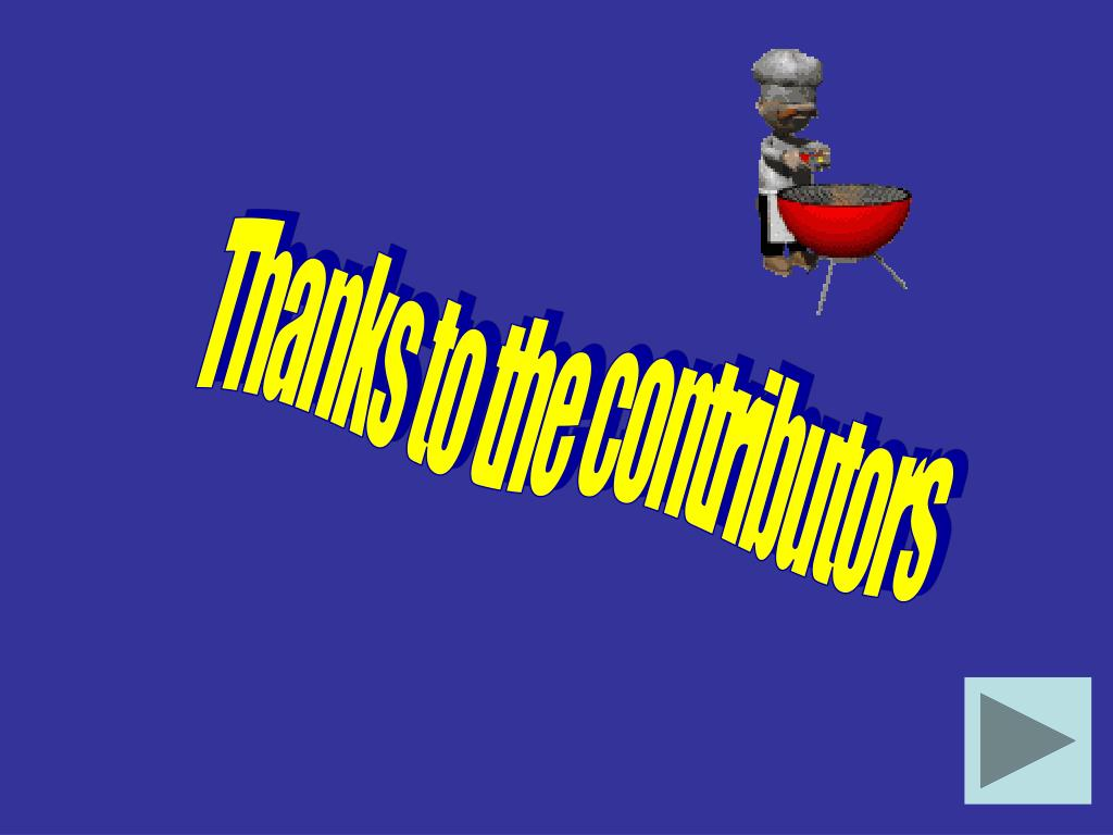 Thanks to the contributors