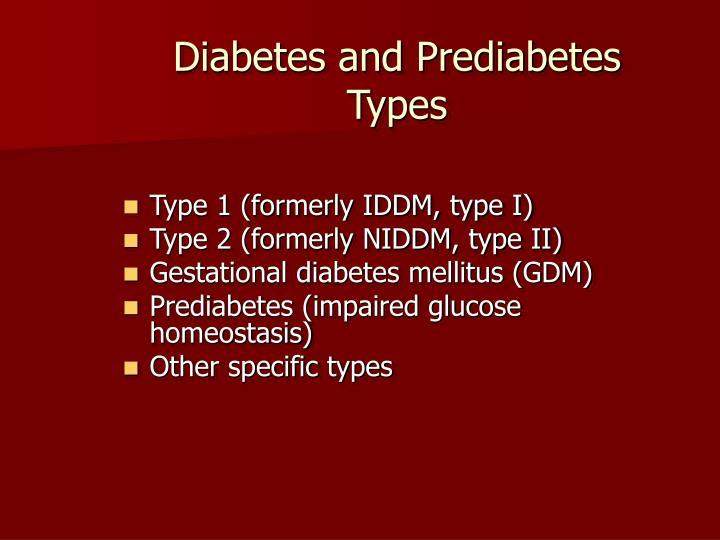 Diabetes and Prediabetes
