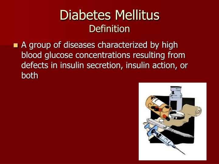 Diabetes mellitus definition