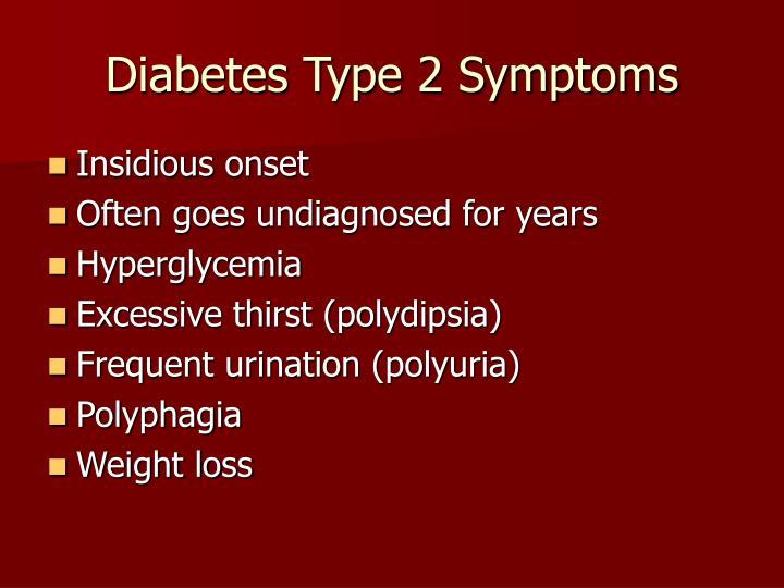 Diabetes Type 2 Symptoms