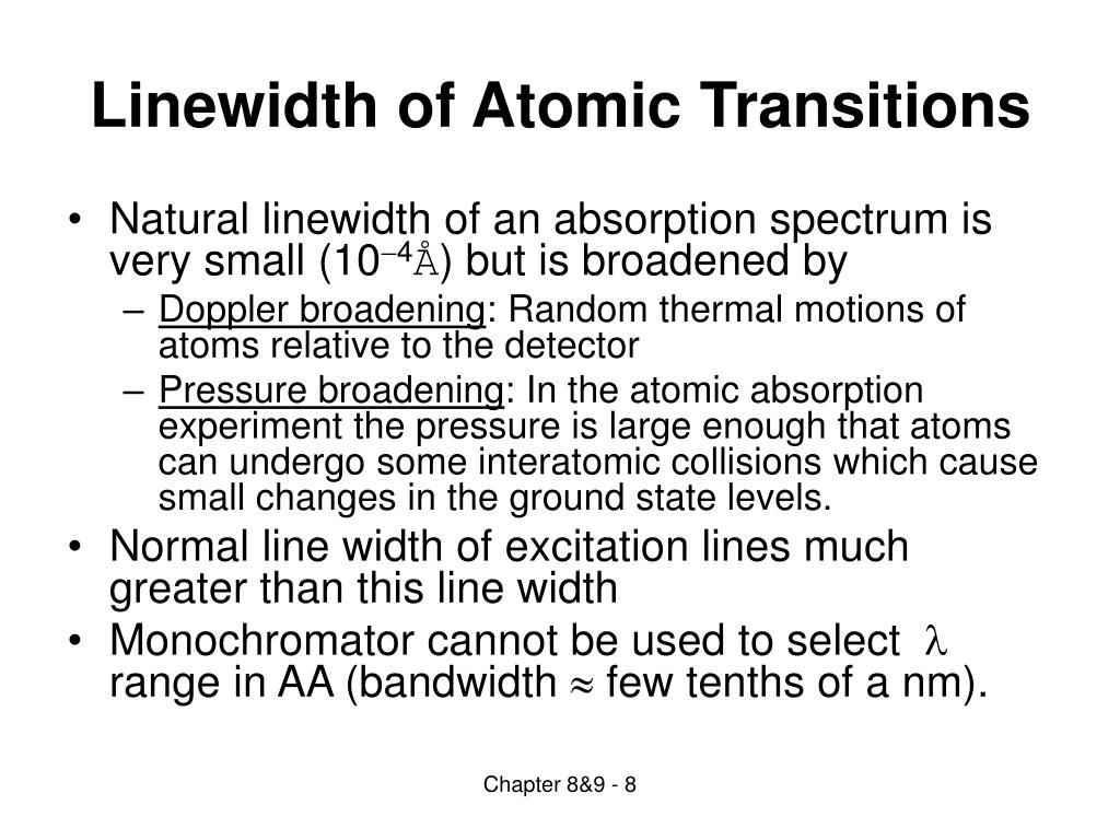 Linewidth of Atomic Transitions