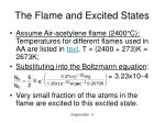 the flame and excited states5