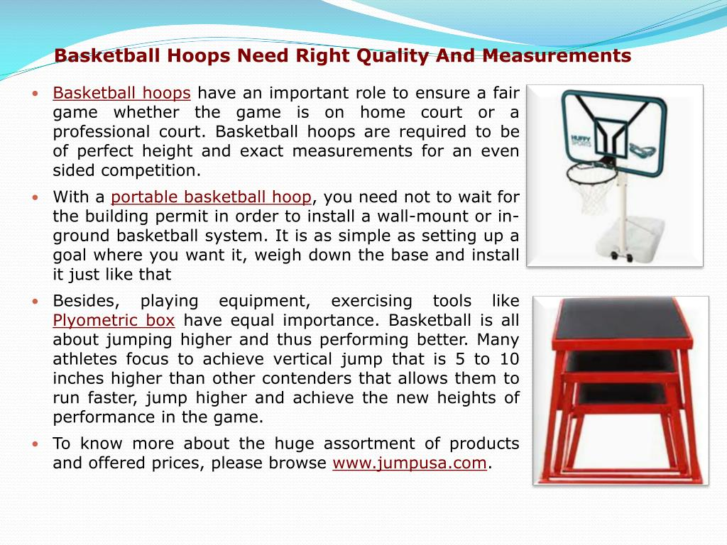 Basketball Hoops Need Right Quality And Measurements