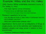 example willey and the vir valley