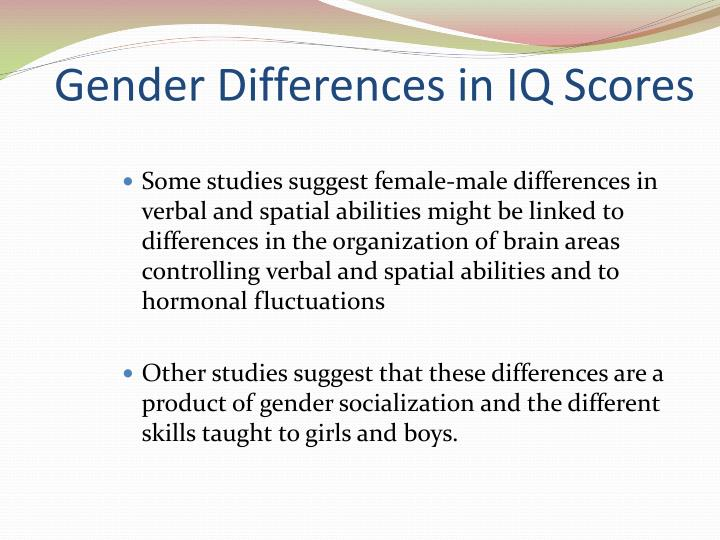 Gender Differences in IQ Scores