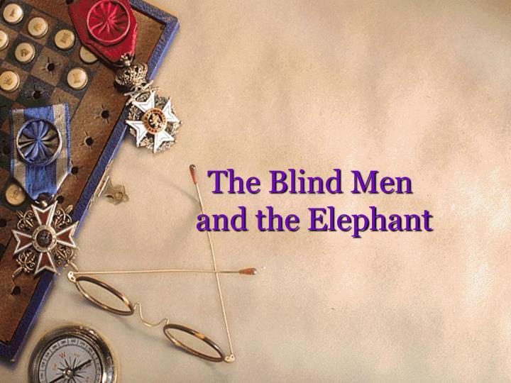 the blind men and the elephant n.