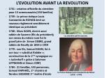 l evolution avant la revolution