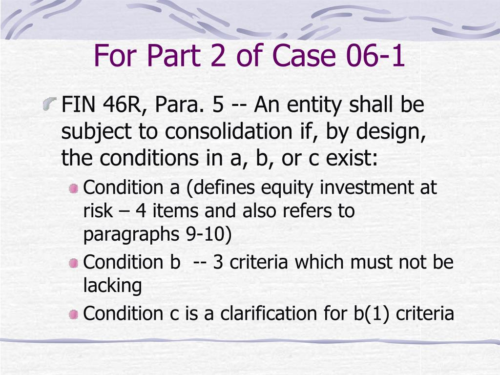 For Part 2 of Case 06-1