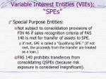 variable interest entities vies spes