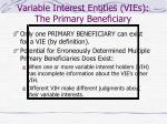 variable interest entities vies the primary beneficiary13