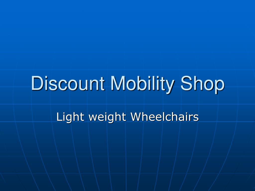 discount mobility shop l.
