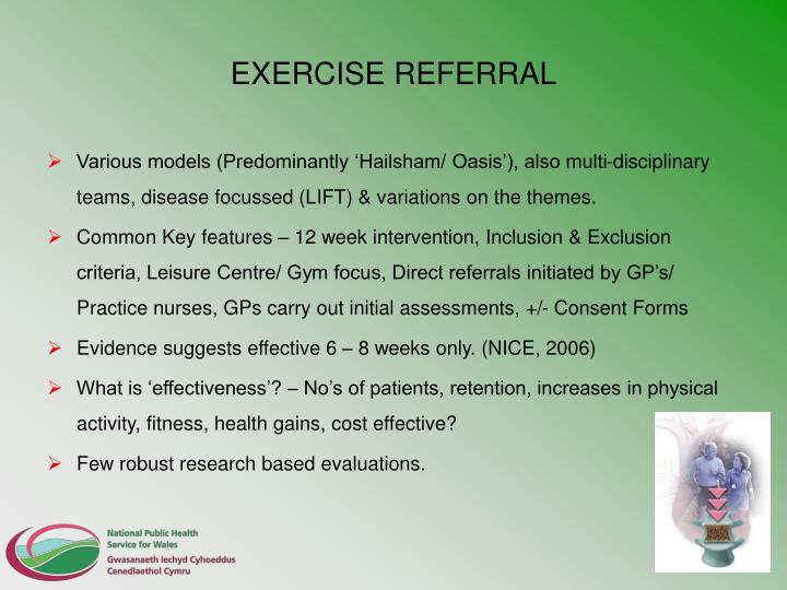 EXERCISE REFERRAL