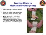 treating minor to moderate wounds cont8